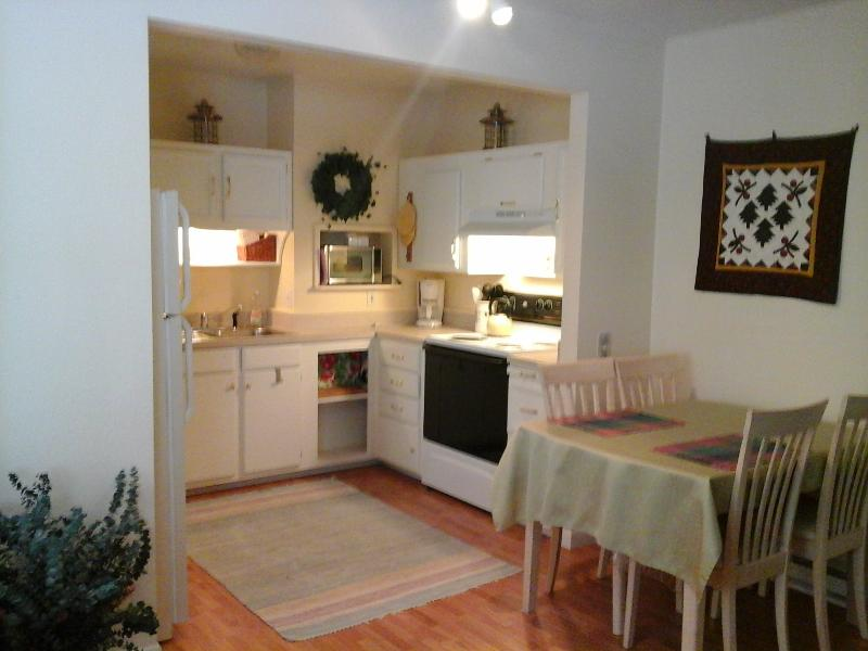 Convenient equipped Kitchenette and dining area
