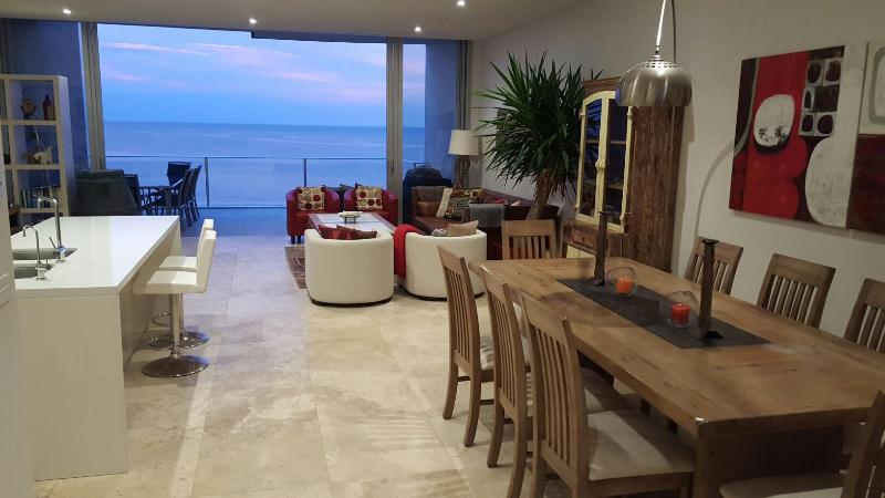 Living-Dining Area of two-storey Beachfront Penthouse