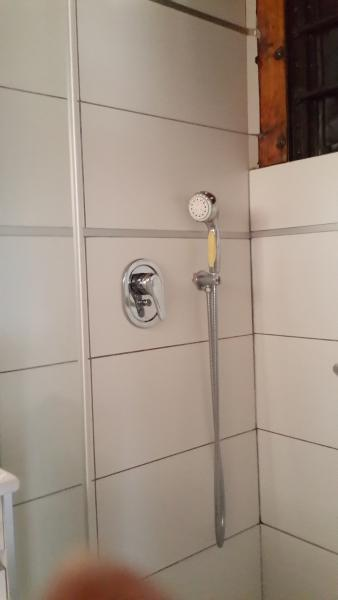 Modern shower complete with all the needs