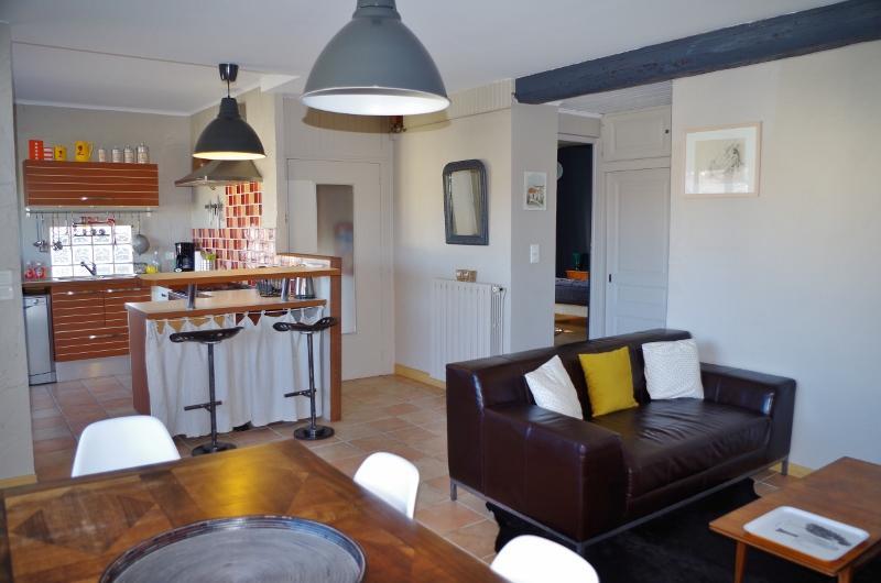 Espace cuisine ouverte sur salon