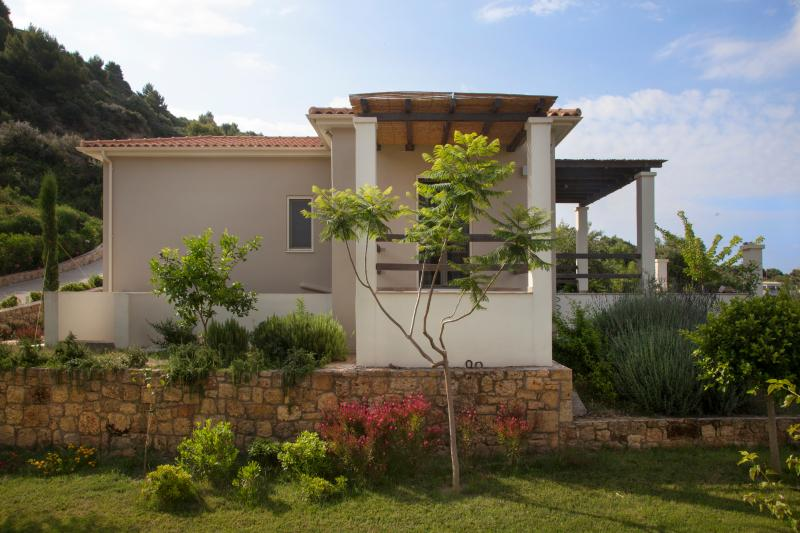 Sun Villa | side facade and garden