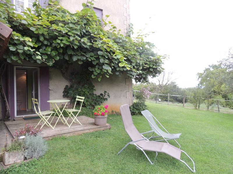 Chambres d'hôtes LES CONCHES avec wifi en rez de jardin, vue sur château, holiday rental in Saint-Martin-de-Fressengeas