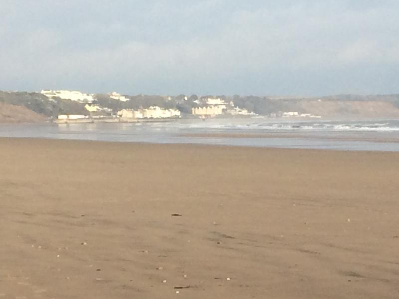 Looking towards Filey from the beach