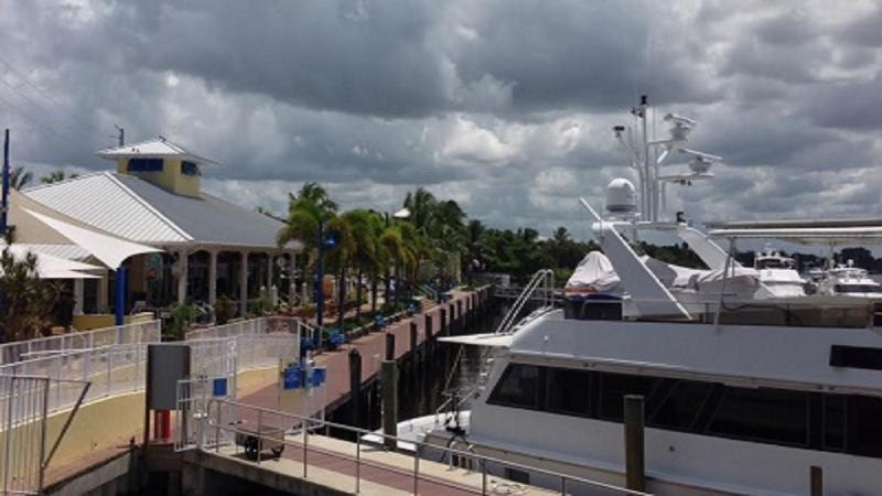 Popular marina and restaurant at the end of the boardwalk:  Sailor's Return and a popular night club