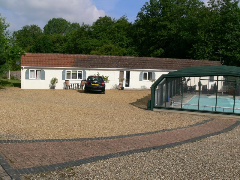 Dove Cottage with private heated pool, hot-tub, games room. Guests use pool privately not shared.