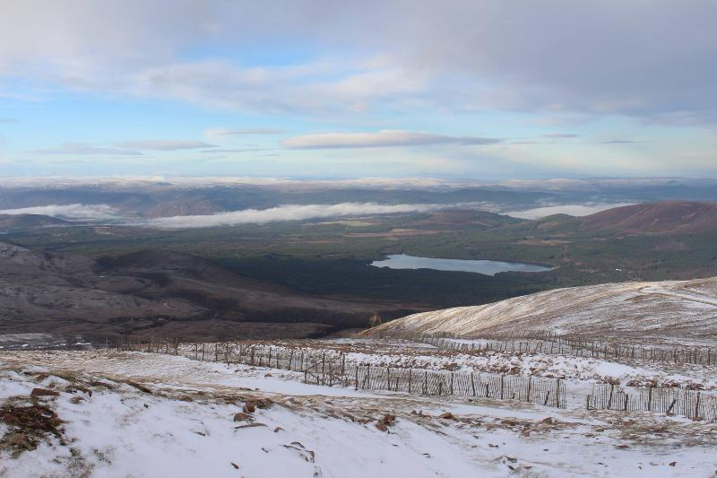 View from the top of the Cairngorm Mountain