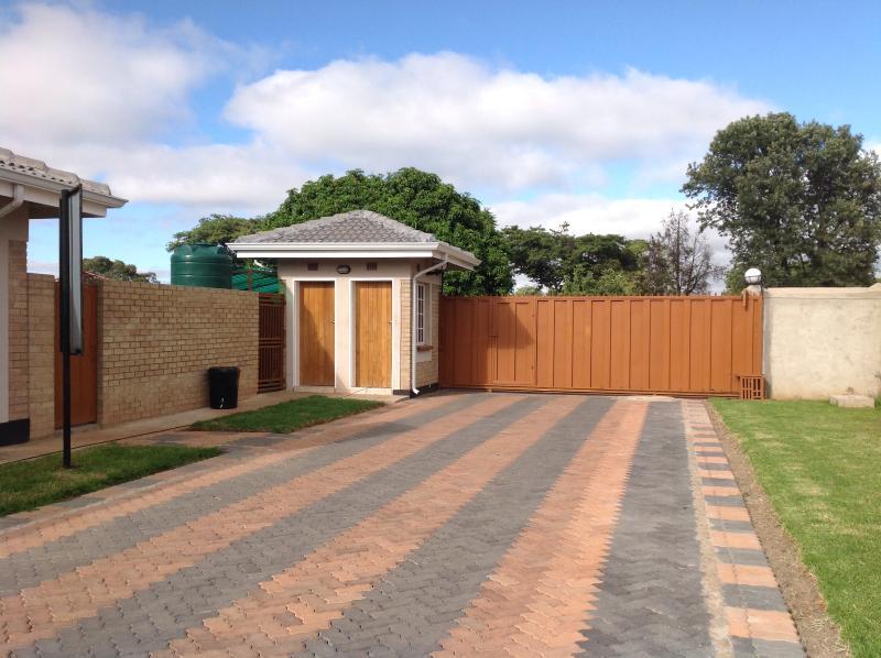 The entrance into our villa