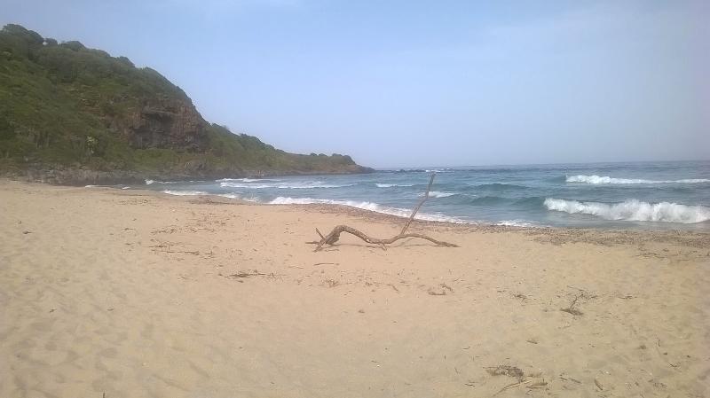Fine sand beach in Cala Cartoe km.7 from Cala Gonone
