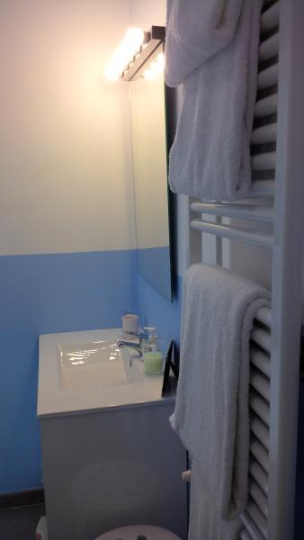 Bathroom. Electric towel heater.