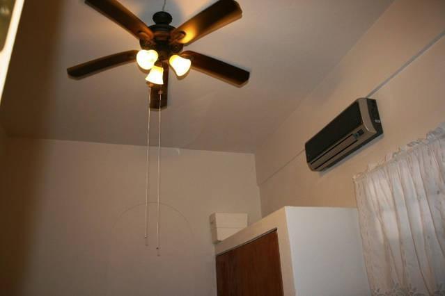Bedroom has a high tech, quiet AC unit.