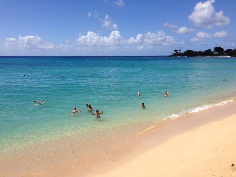 Makaha Beach Park. 2 minutes from the Condo. Safe for family swimming