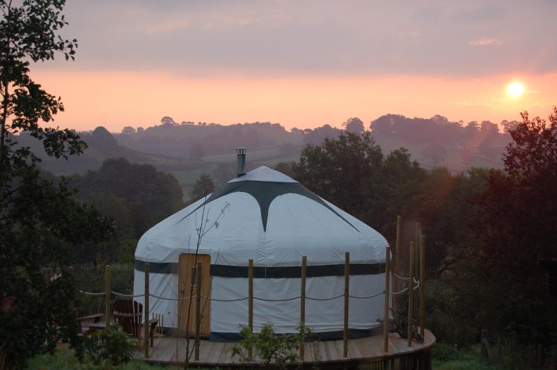 Sunrise at The Secret Yurts