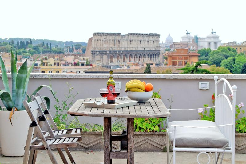 Rome Colosseum Rental with Terrace View