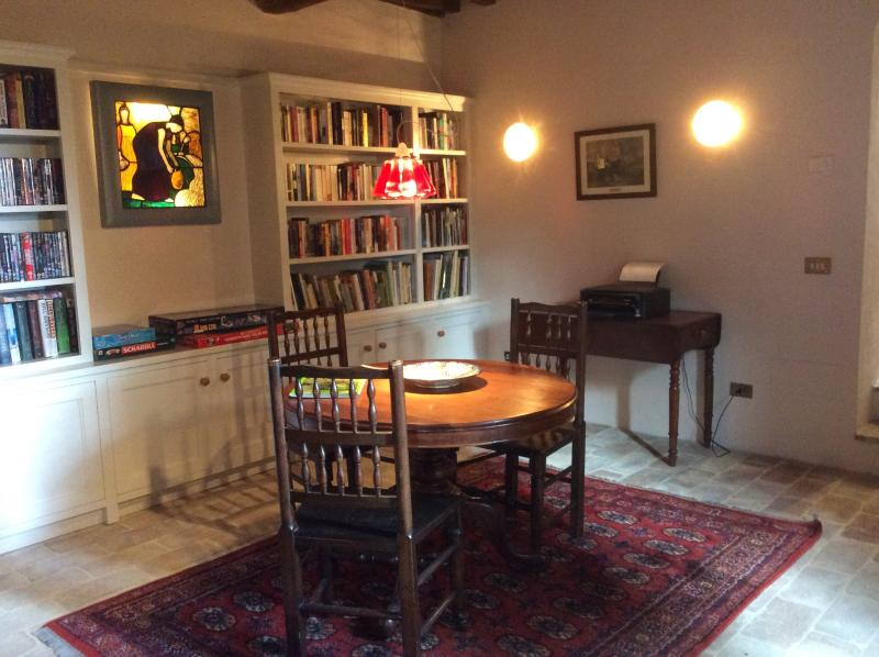 The library leading to the drawing room