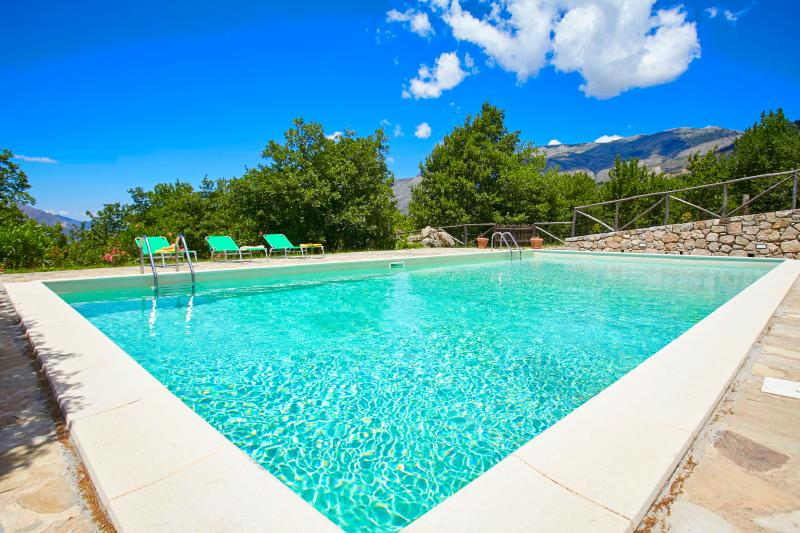 Country villa with pool in Sicily, holiday rental in Scillato