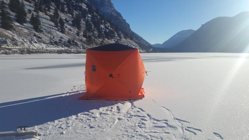 Ice Fishing Hut on site