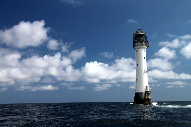 Bellrock Lighthouse 10 miles off Arbroath