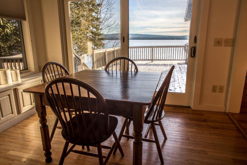 table adjacent to kitchen.