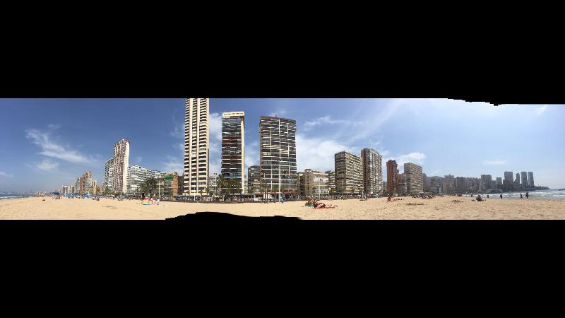 Panoramique de la plage Levante