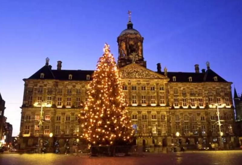 Dam Square, if you take the tram you are in no mor than 15 min at this famous square.