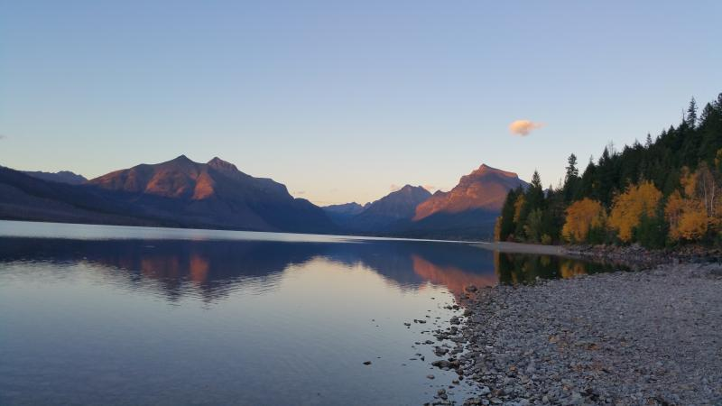 Lake McDonald  in the fall. Just 20 mins away