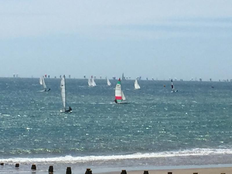 The holiday centre's cliff top location is a great vantage point for the Round the Island race