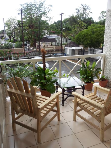 Relaxing balcony with great view of surrounding areas, pop a bottle of red wine and you are at home.