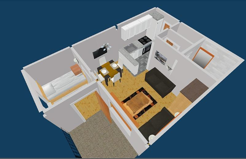 3D view of apartment