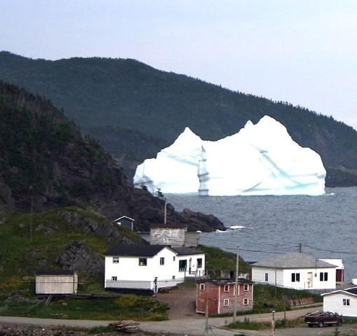 Icebergs are floating down from Greenland more now.
