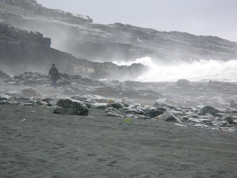 Great seas on the exposed Cape Race shore.