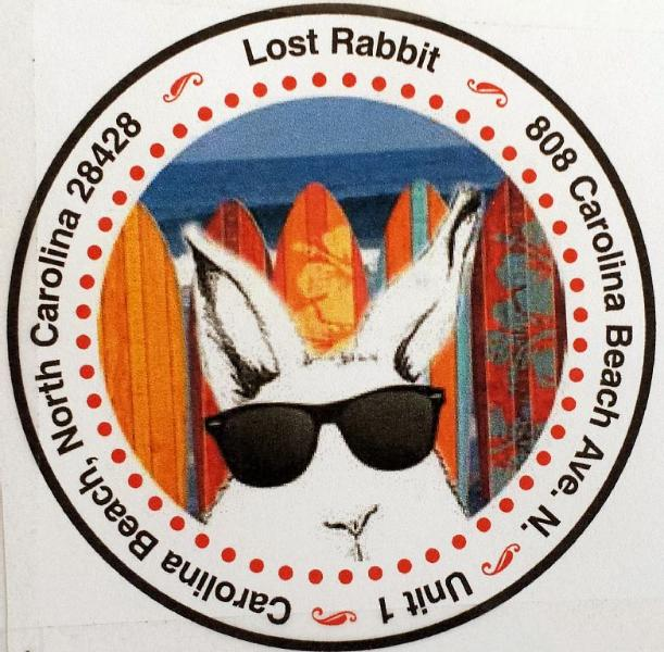 Lost Rabbit Logo -- hangs from the mailbox so that you can easily find it.
