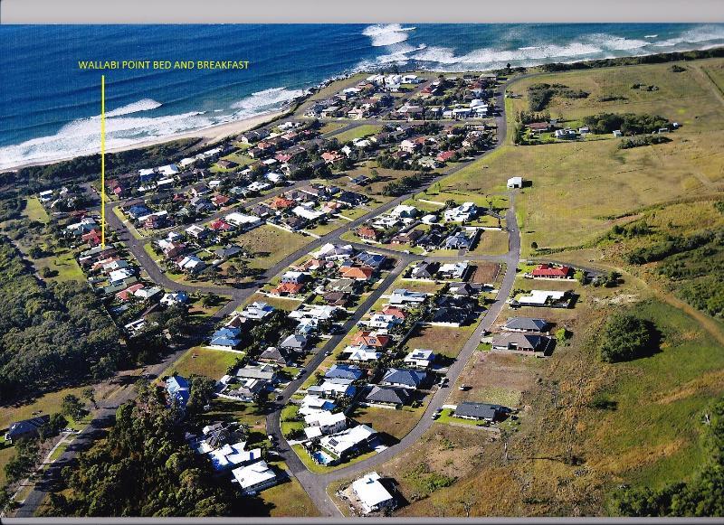 Luftbild der Wallabi-Punkt