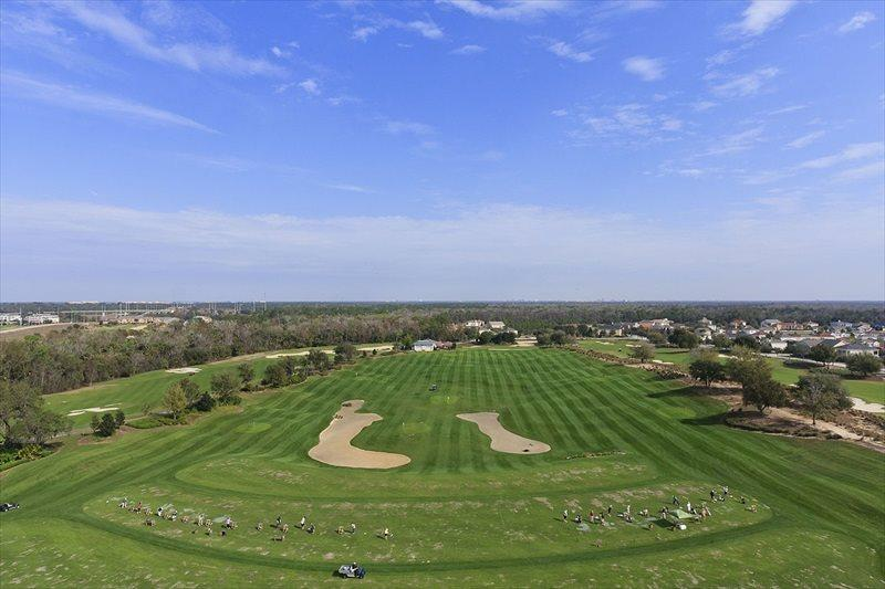 The golf driving range that this home has optional access to