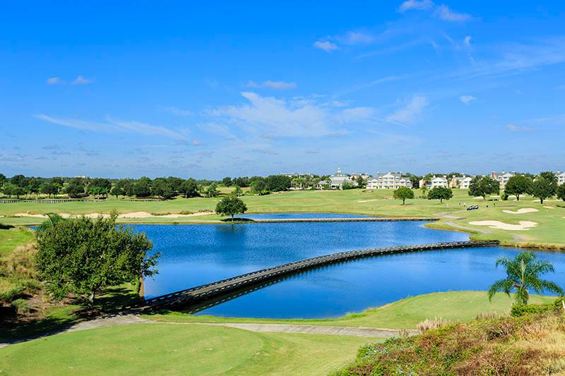 The beautiful scenery of the resorts golf courses that this home has optional access to
