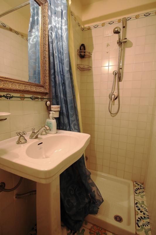First floor second bathroom with floor shower