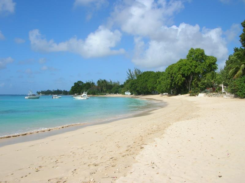 Beautiful, quiet Gibbes beach looking north.