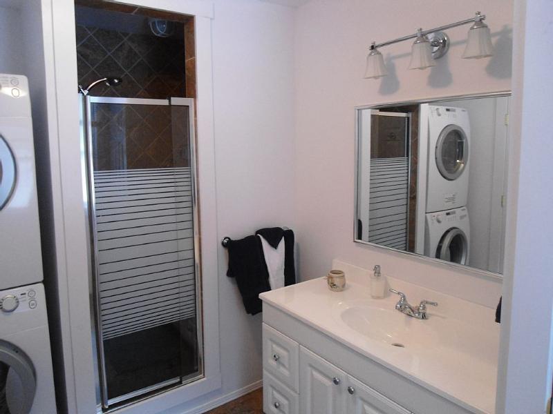 Baño ducha + lavadora y secadora