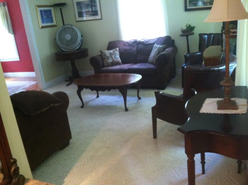 Front living room with fold out Queen sofabed