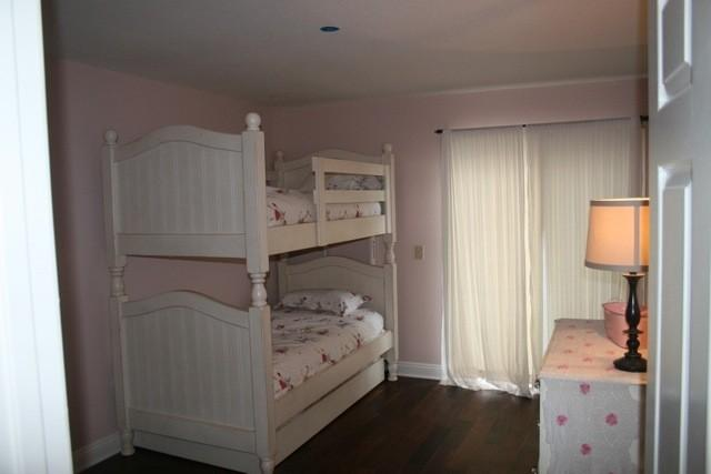 Kids Room. There is a trundle bed under the 2 bunk beds. Sleeps 3.