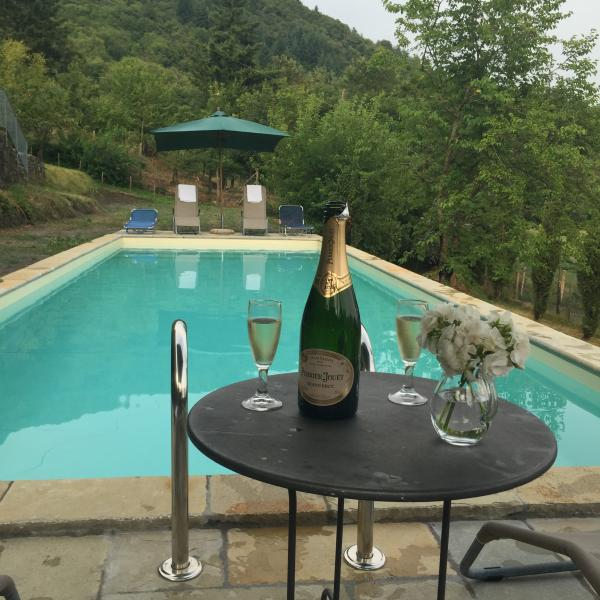 Prosecco at the pool to celebrate your holiday