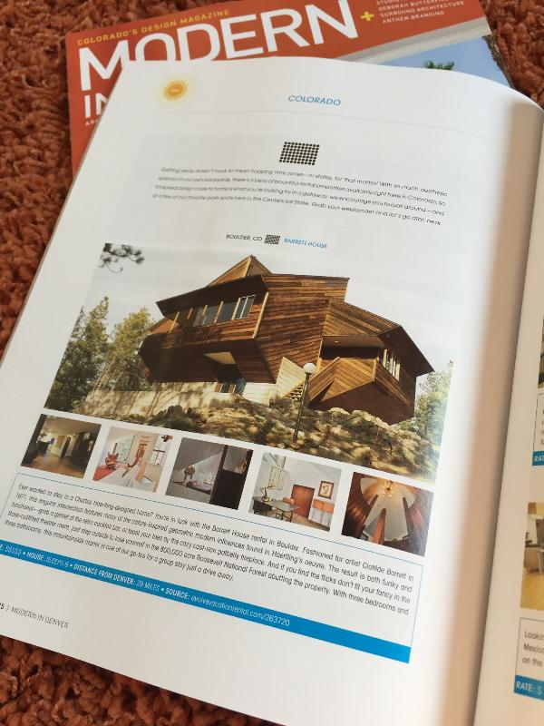 "Incluso in ""Moderna A Denver"" Magazine"