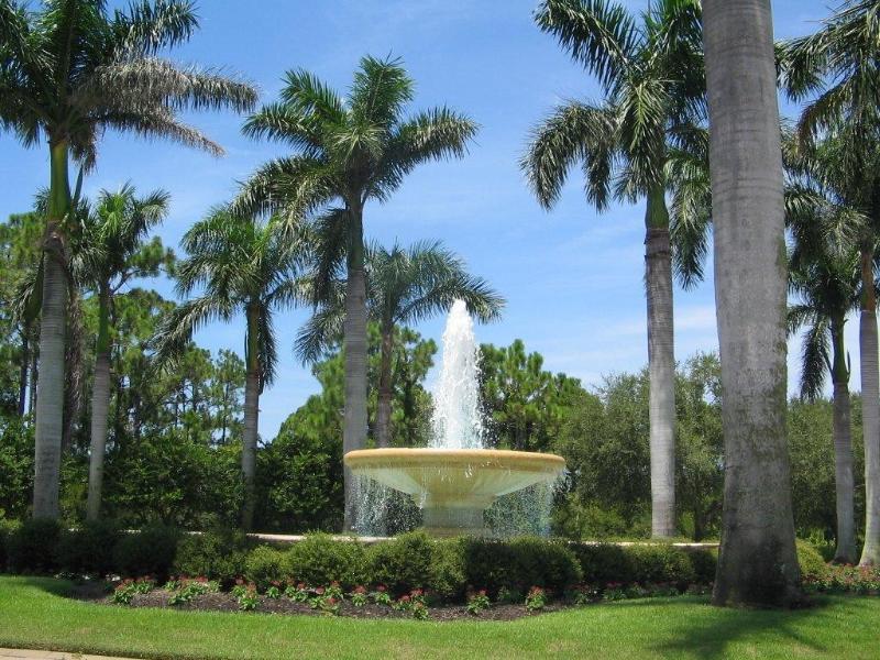 Beautiful grounds surround
