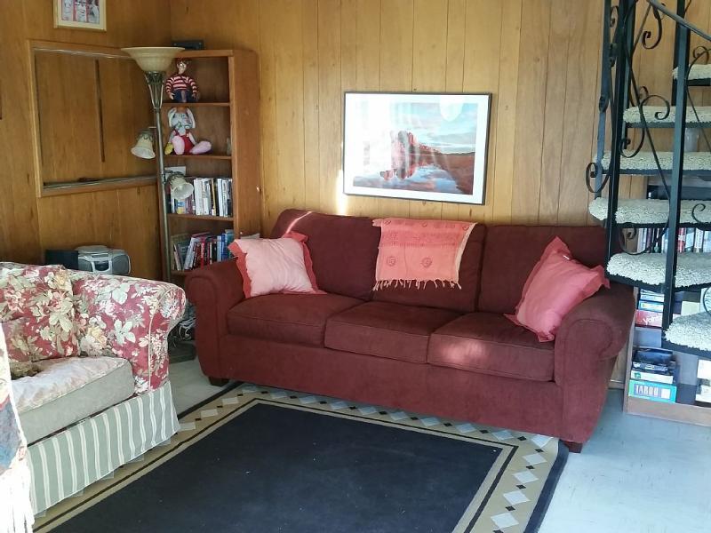 Downstairs Bonus Room, both make into single beds!