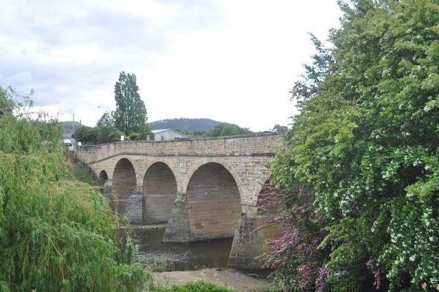 Historic Richmond Bridge - built 1823 - pictured from the front lawn
