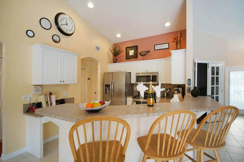 Open Kitchen with Counter Seating