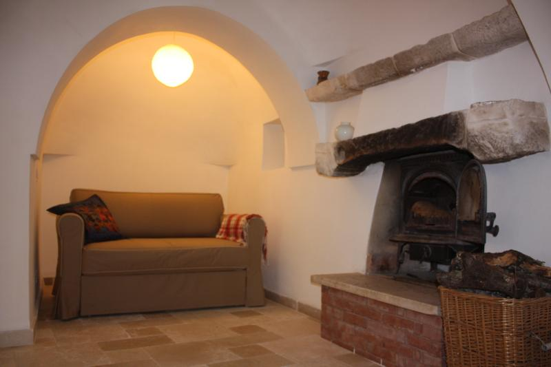 Alcove with fire place