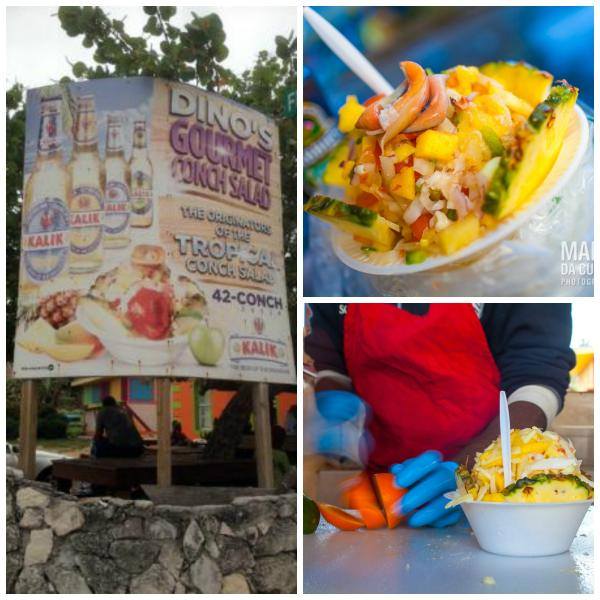 World Famous Dino's Conch Stand.  (5 minute drive, 15 minute walk). Home of the Tropical Conch Salad