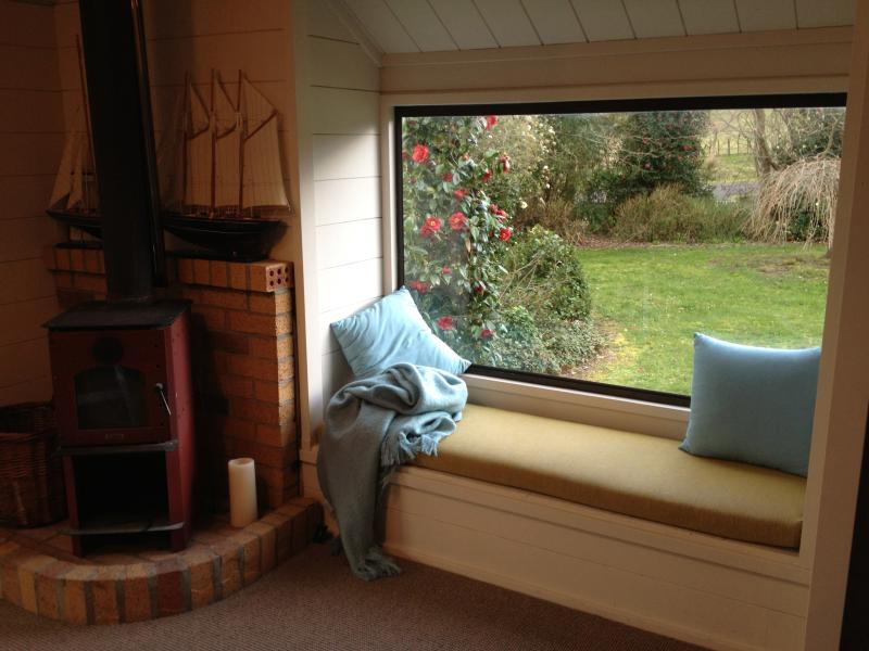 bay window great in mornings for reading a great book