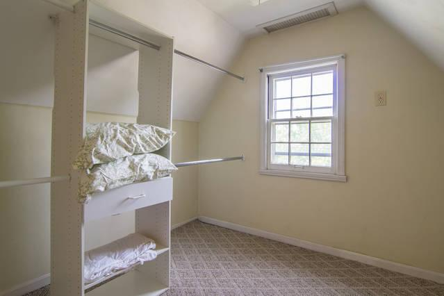 Walk-in Closet in Master suite-pillows for sofa bed
