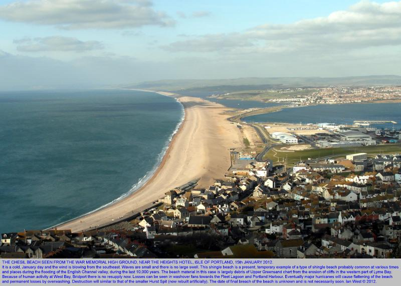 Chesil beach connects Weymouth to Portland. Dog friendly fishing pubs cafes mins walk from cottage